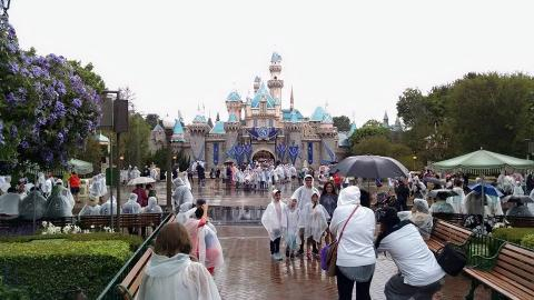 Disneyland in the Rain