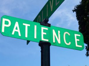 Patience Road Sign